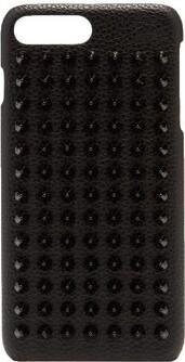 Christian Louboutin Loubiphone Spike Leather Iphone 7+/8+ Case - Mens - Black
