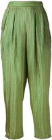 Mes Demoiselles Noah striped trousers - women - Silk - 38
