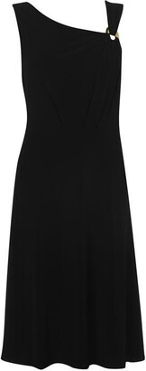 DKNY three quarter ruched sleeve dress
