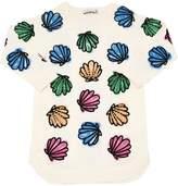 Stella McCartney Seashells Print Cotton Sweatshirt Dress
