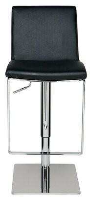 Orren Ellis Dickert Adjustable Height Bar Stool (Set of 2 Upholstery: Black