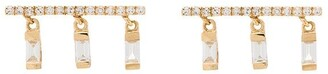 Shay 18kt yellow gold Chime diamond earrings