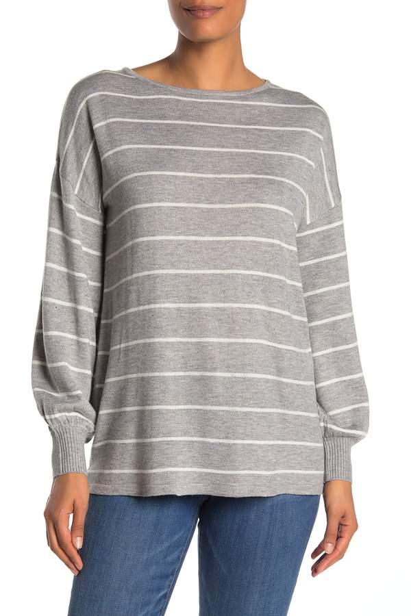Philosophy di Lorenzo Serafini Stripe Balloon Sleeve Sweater