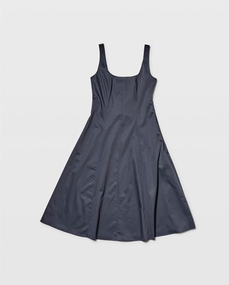 Club Monaco Wide Neck Panel Dress