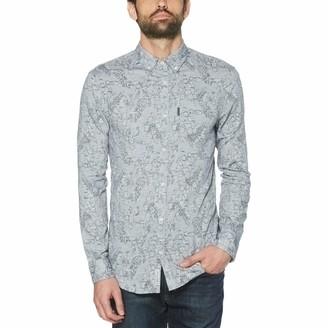 Original Penguin Tropical Chambray Linen Blend Shirt