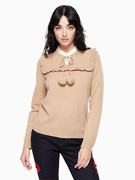 Kate Spade Wool cashmere pom sweater