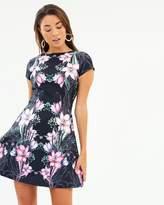 Lipsy Marker Oriental Print Skater Dress