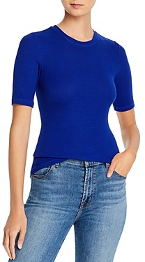 Enza Costa Ribbed-Knit Tee