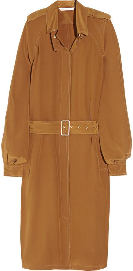 Diane von Furstenberg Jafar belted silk crepe de chine shirt dress