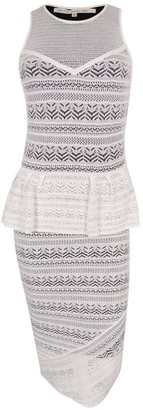 Rachel Roy Women's Fitted Lace Peplum Dress