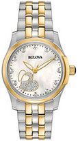 Bulova Women's Diamond Two-tone Heart Watch