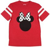 Disney Womens Minnie Mouse Varsity Football Tee Heather