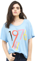 Wildfox Couture 1976 Manchester Tee in Blue Shimmer