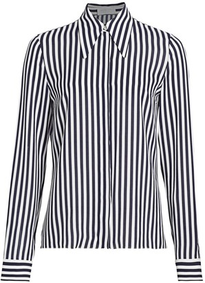 Michael Kors Stripe Silk Shirt