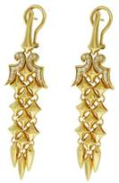 Stephen Webster 925 Sterling Silver & Yellow Gold Plated Diamond Drop Earrings