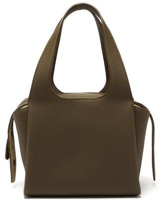 The Row Tr1 Folded Leather Bag - Khaki
