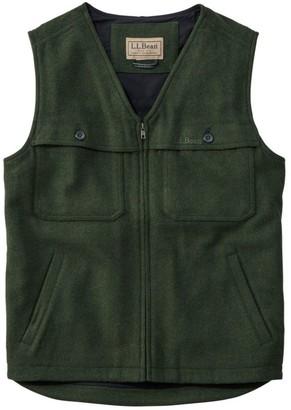 L.L. Bean L.L.Bean Maine Guide Zip-Front Wool Vest