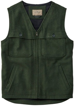 L.L. Bean Maine Guide Zip-Front Wool Vest