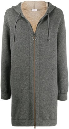 Brunello Cucinelli Long Zip-Up Hoodie