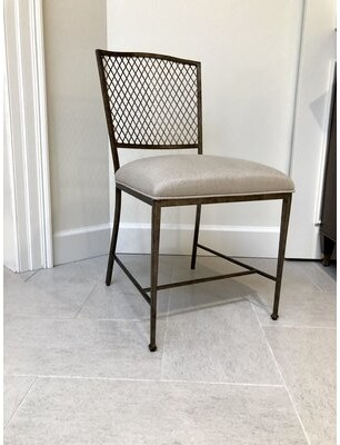 Stanley Furniture Willow Upholstered Metal Side Chair in Dapple (Set of 2