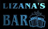 AdvPro Name w029556-b LIZANA Name Home Bar Pub Beer Mugs Cheers Neon Light Sign