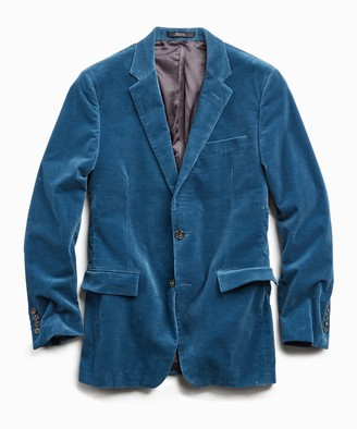 Todd Snyder Italian Stretch Cord Sutton Suit Jacket in Teal