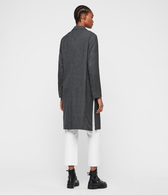 AllSaints Aleida Check Duster Coat