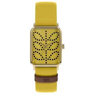 Orla Kiely Womens Analogue Classic Quartz Watch with Leather Strap OK2304