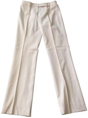 Michael Kors Ecru Wool Trousers