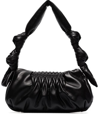 Miu Miu Matelasse Knotted Leather Shoulder Bag
