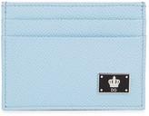 Dolce & Gabbana Light Blue Saffiano Leather Card Holder