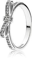 Pandora Delicate Bow Ring - Sterling Silver / Cubic Zirconia