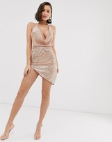 New Age Rebel metallic halter neck dress