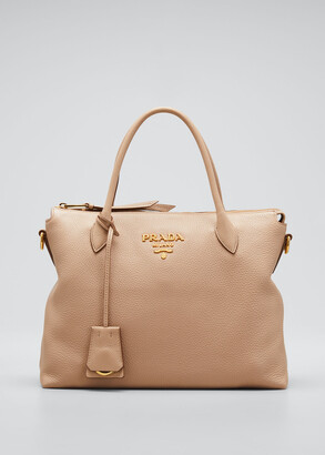 Prada Daino Zip-Top Tote Bag