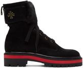 Mr & Mrs Italy Black Combat Boots