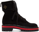 Mr & Mrs Italy Black Combat Boots