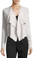 Vince Cashmere Draped-Front Cardigan, White
