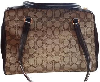 Coach Crossgrain Kitt Carry All Brown Cloth Handbags