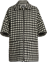 A.P.C. Granville checked wool-blend coat