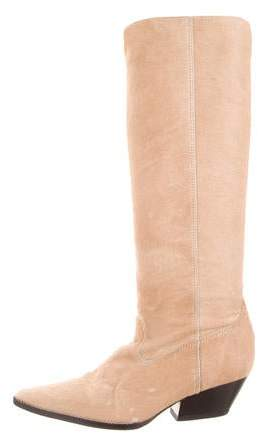 Michael Kors Pointed-Toe Mid-Calf Boots
