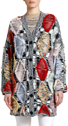 Missoni Fringed Argyle Cardigan