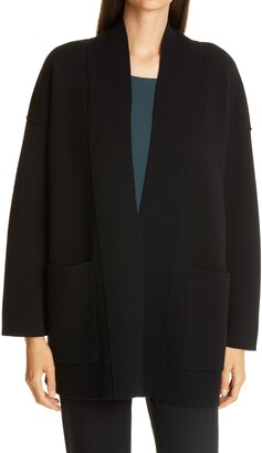 Eileen Fisher Lofty Recycled Cashmere Boxy Cardigan