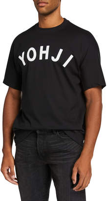 Y-3 Men's YOHJI Letters Crewneck T-Shirt