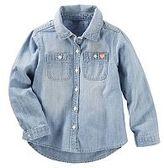 Osh Kosh Girls 4-8 Denim Button-Front Shirt
