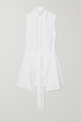Rosetta Getty Tie-front Cotton-poplin Shirt - White