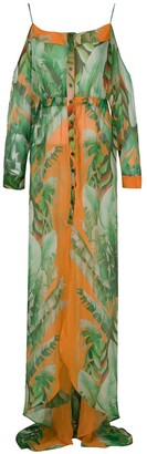 AMIR SLAMA Printed Maxi Silk Dress