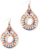 New York & Co. Multicolored Beaded Drop Earring
