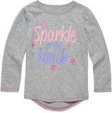 Champion Long-Sleeve Sparkle Finish Tee - Preschool Girls 4-6x