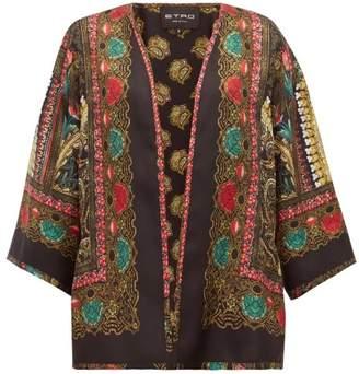 Etro Norfolk Paisley-printed Silk Jacket - Womens - Black Gold