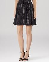 Reiss Skirt - Anra Mesh Stripe